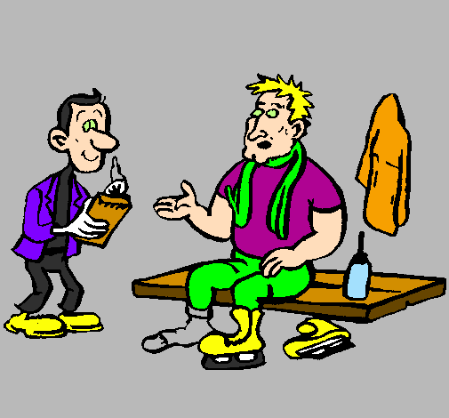 Coloring page Skater with reporter painted bymanu
