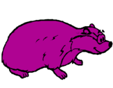 Coloring page Badger painted bymaxi