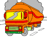 Coloring page Tanker painted bybarry