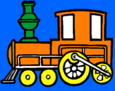 Coloring page Train painted bycameron