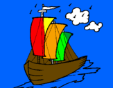 Coloring page Sailing boat painted bydaniel