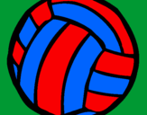 Coloring page Volleyball ball painted bysara