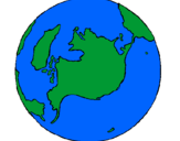 Coloring page Planet Earth painted byearth