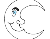 Coloring page Moon painted bymoon