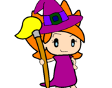 Coloring page Witch Turpentine painted bybruja buena