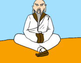 Coloring page Chinese wise man painted byKevin