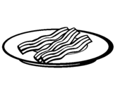 Coloring page Bacon painted bychicken leg whole