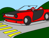 Coloring page Car painted byelian