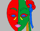 Coloring page Italian mask painted byjulia