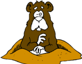 Coloring page Mole painted bytouch