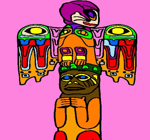 colored page totem paintedanonymous