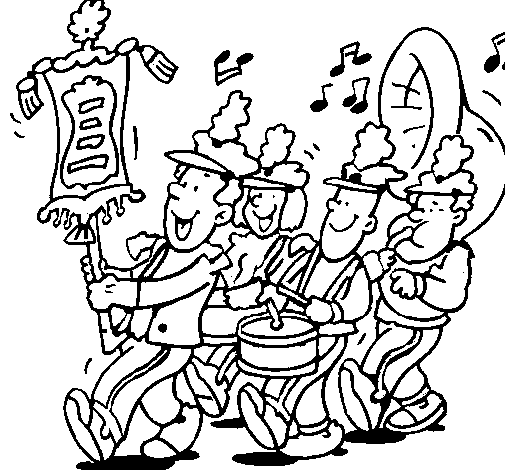 Coloring page Musical band painted byTina