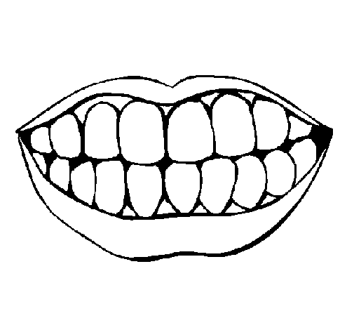 Coloring page Mouth and teeth painted byalan