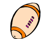 Coloring page American football ball painted byetan