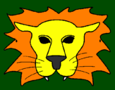 Coloring page Lion painted byDANIEL