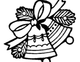 Coloring page Christmas bells painted byMichael
