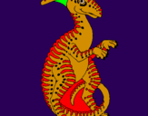 Coloring page Parasaurolophus painted byfantaterry