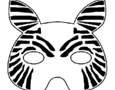 Coloring page Zebra painted bymari