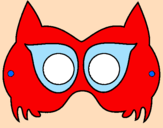 Coloring page Raccoon mask painted byrosa
