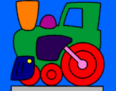 Coloring page Train painted bycynthia