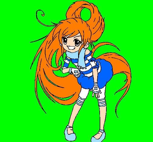 Coloring page Idol painted bymarina