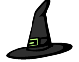 Coloring page Witch's hat painted byercila