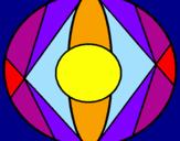 Coloring page Mandala II painted bydarielys