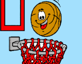 Coloring page Ball and basket painted bysrgiote