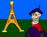 Coloring page France painted bysylvester