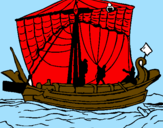 Coloring page Roman boat painted bygonzalo