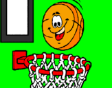 Coloring page Ball and basket painted byCATAINA