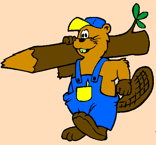 Coloring page Beaver at work painted byPRESIOSA