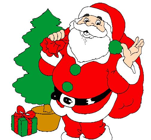 santa claus and a christmas tree - Santa Claus Tree