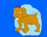 Coloring page Dog painted byPamela