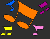 Coloring page Musical notes painted byjamie