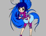Coloring page Idol painted byarantxa girl