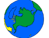 Coloring page Planet Earth painted bymaddison