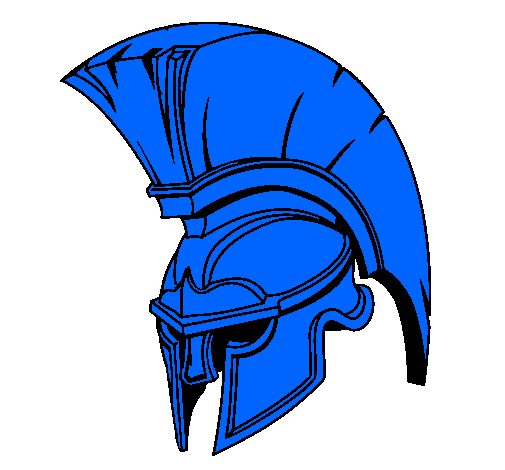 colored page helmet painted by blue knight
