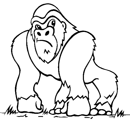 Coloring page Gorilla painted bycsx