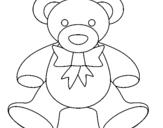 Coloring page Teddy bear painted byLevi es un chico