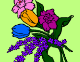 Coloring page Bunch of flowers painted byfortesa