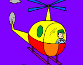 Coloring page Helicopter painted byjude holland