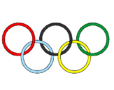 Coloring page Olympic rings painted bysrgiote