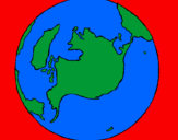 Coloring page Planet Earth painted byjeisy