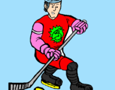 Coloring page Ice hockey player painted bykalilu