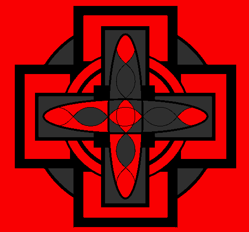 Coloring page Mandala 8 painted bybloody cross