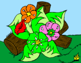 Coloring page Flowers I painted byDesiree