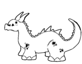 Coloring page Baby dragon painted bytig3