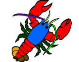 Coloring page Lobster painted byr