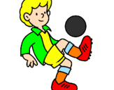 Coloring page Football painted byjak
